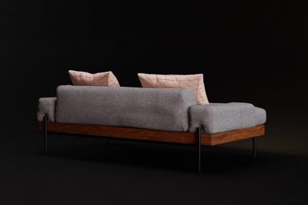 modern couch rendering